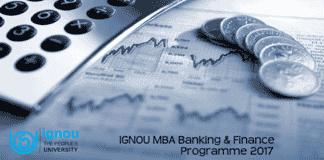 IGNOU MBA Banking & Finance Programme