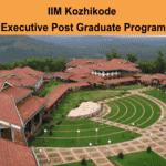 IIM Kozhikode EPGP Program